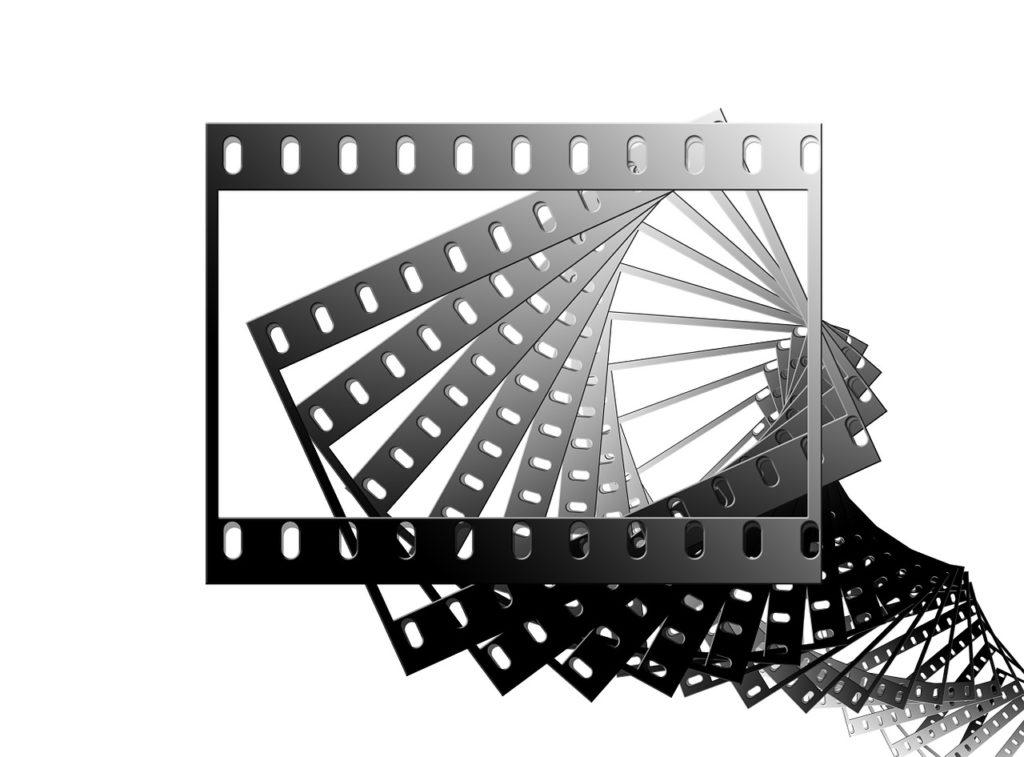 film, filmstrip, black and white